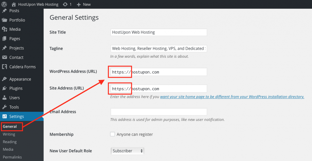 Enable SSL on WordPress