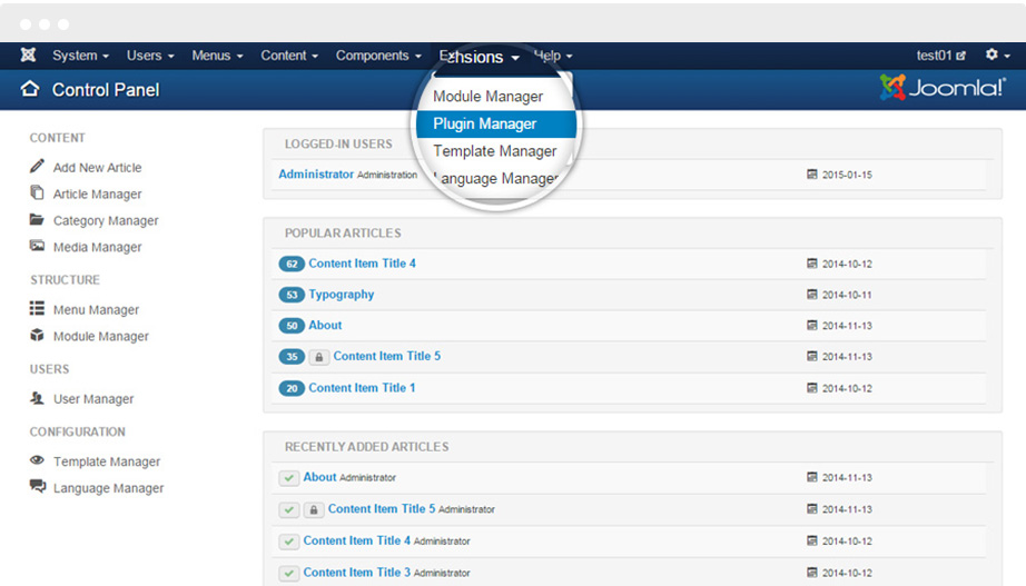 Joomla Screenshot